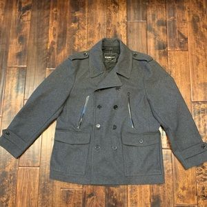 Express Mens Peacoat, Gray Size XL Great Condition